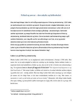 Sekularisering | KLM eksamensopgave