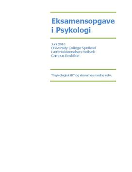 Selvpsykologi og Psykologisk ilt af Jan Tønnesvang