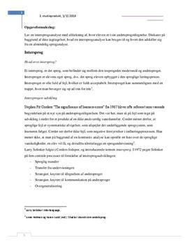 Intersprog og intersprogsanalyse   Studieprodukt