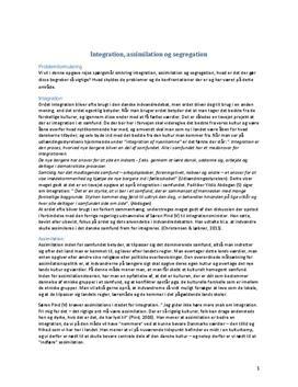 Integration, assimilation og segregation