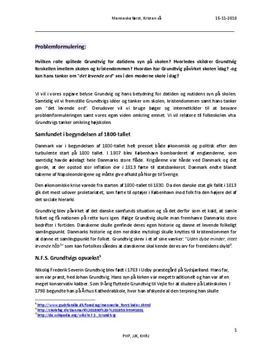 KLM studieprodukt om Grundtvig