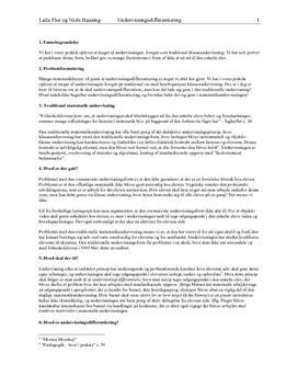 Undervisningsdifferentiering i matematikundervisningen