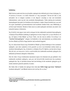 Muslimsk børneopdragelse | KLM synopsis