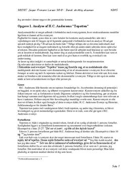 """Analyse af H.C. Andersens Eventyr """"Tepotten"""" - Lærerstuderende.dk"""