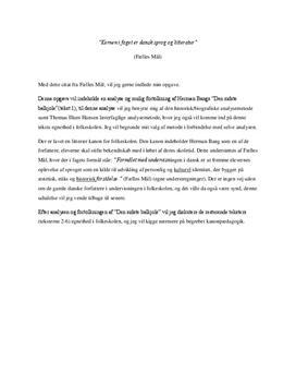 Den sidste balkjole af Herman Bang | Lærerudd. eksamen 2008