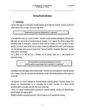 Versaillestraktaten skriftlig opgave historie