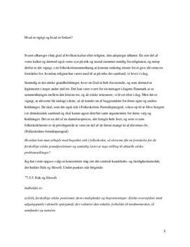 Etik i undervisningen i 9. klasse