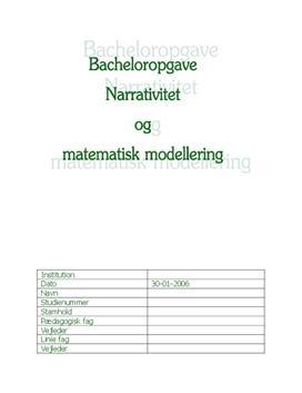 matematisk modellering opgaver
