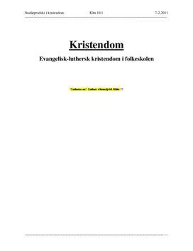 Evangelisk-luthersk kristendom i folkeskolen