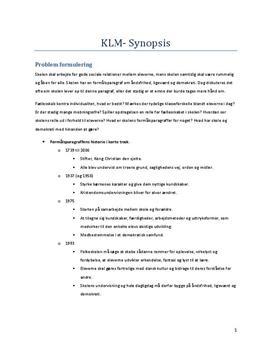 Eksamenssynopsis KLM