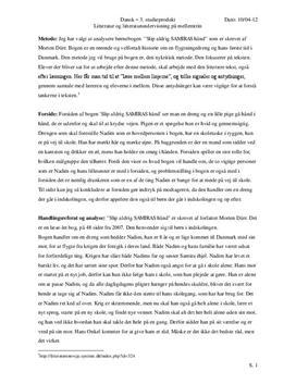 Slip aldrig Samiras hånd | Lærerfaglig analyse