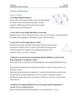 Matematik skriftlig eksamen 2011