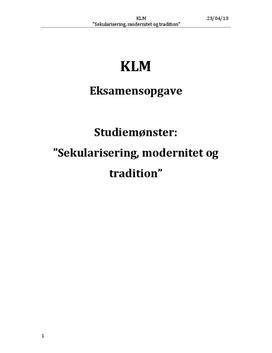 Menneskets frihed | Eksamensopgave | KLM