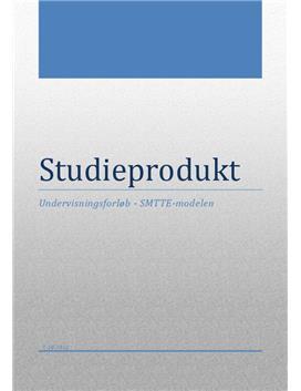 Studieprodukt om SMTTE-modellen