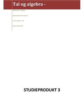 Studieprodukt om undersøgelseslandskab og IT