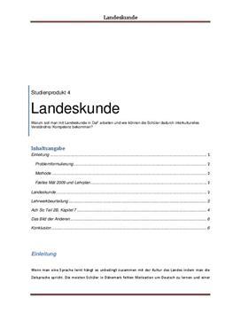 Landeskunde | Studieprodukt