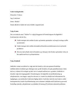 Alkohol | Undervisningsforløb | Fysik/kemi