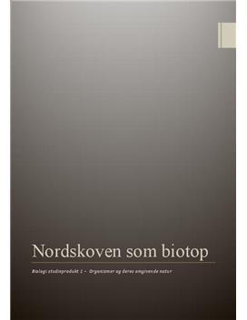 Biotopundersøgelse   Nordskoven   Studieprodukt