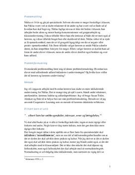 Synopsis om inkludering af adfærdsvanskelige elever